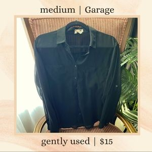 Garage Black chiffon shirt/blouse